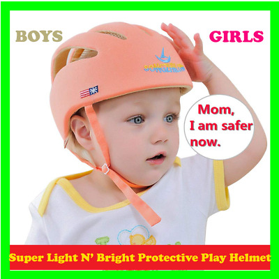 Soft Cotton Adjustable Baby Protective Helmet Baby Cap For Boys Girls  Safety He