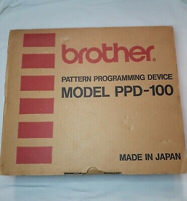 Vintage Brother PPD 100 Pattern Programming Device Cartridges Tool Knitting Mach