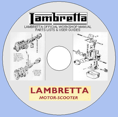 Lambretta Scooters Official Workshop Manual, Parts Lists & User Guides