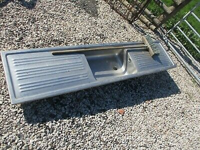 """Large Heavy Duty 1 Bowl Double Drainer Stainless Steel Sink 6Ft 6"""" / 2M"""