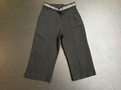 Next Girls Black Smart Capri Trousers.  Age 3 Years