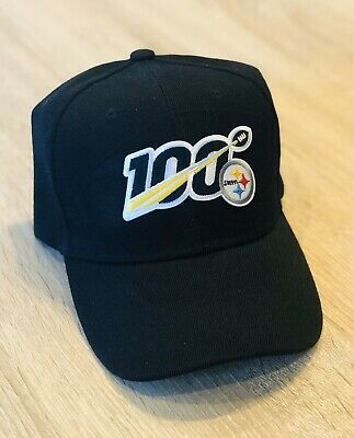NFL 100th Season Cap Hat 2019 Patch Style PITTSBURGH STEELERS 100 Anniversary BK