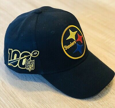NFL 100th Season Cap Hat 2019 Patch Style PITTSBURGH STEELERS 100 Anniversary —