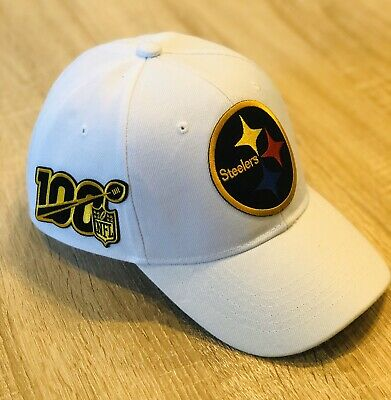 NFL 100th Season Cap Hat 2019 Patch Style PITTSBURGH STEELERS 100 Anniversary !!