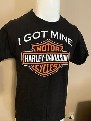 HARLEY DAVIDSON Giant Logo Spell Out London Kentucky Motorcycle T Shirt Mens M