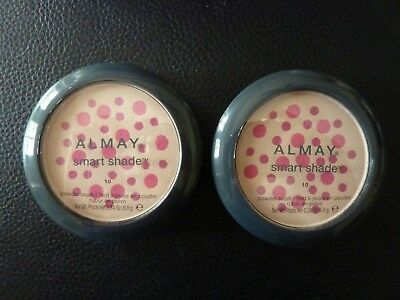 Almay Smart Shade Powder Blush -  PINK  # 10  - TWO Brand New / Sealed Compacts