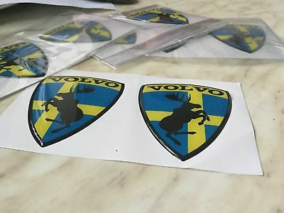 Volvo BLUE sticker/badge, 3D Gell, Polimeric MOOSE