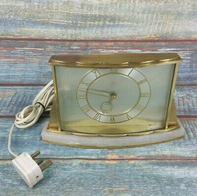 Smiths Sectric Vintage Clock Collectable Made In England Electric Marble Base