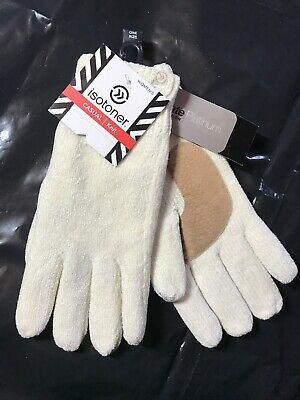 ISOTONER Women Classic Knit Thinsulate Lining Gloves, Ivory One Size $32
