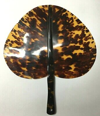 Vintage ART DECO Genuine Tortise shell Ladies HAND FAN -RARE- GOOD COND