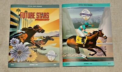 2-Lot of New 2019 Breeders Cup Fri/Sat Programs-FREE SHIPPING