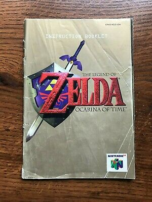 Legend of Zelda Ocarina of Time N64 Nintendo 64 Instruction Manual Only