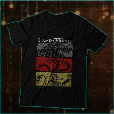New Game  of Thrones Houses Stark Targaryen Lannister  Tee Shirt Size S to 2XL