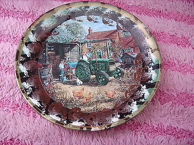 Tractor    On A Decoupage  Plate
