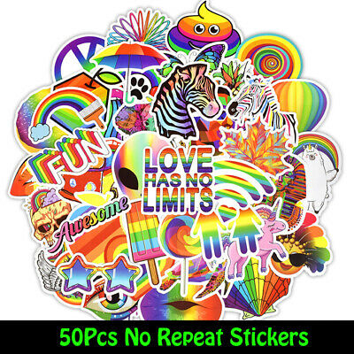 50 Funny cool Skateboard Stickers Vinyl Laptop Luggage Decals Dope Sticker lot