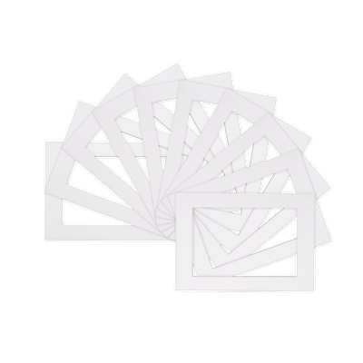 white pack of 25 picture mounts 50cmx23cm for 18x45cm