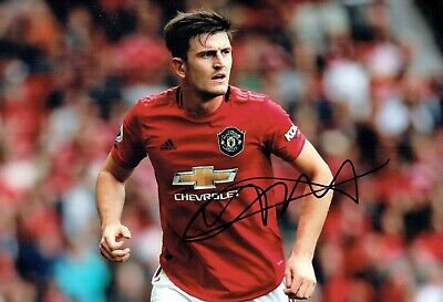 Harry MAGUIRE Signed Autograph 12x8 Photo 1 AFTAL COA Manchester United Man Utd