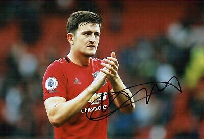 Harry MAGUIRE Signed Autograph 12x8 Photo 2 AFTAL COA Manchester United Man Utd