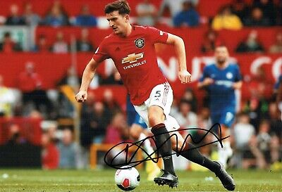 Harry MAGUIRE Signed Autograph 12x8 Photo 3 AFTAL COA Manchester United Man Utd