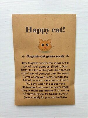 Organic cat grass seeds gifts for cats presents for cats cat birthday cat lovers