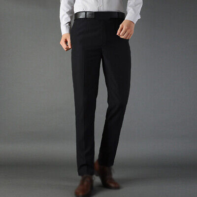 Fashion Mens Slim Fit Straight Leg Jeans Trousers Casual Pencil Business Pants