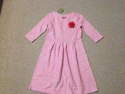 Beautiful Joules Girl Pink Stripped Dress Age 11-12 Years - Brand New