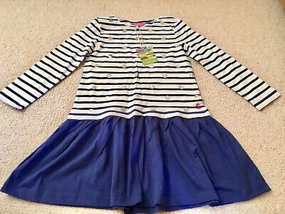Joules Girl's Stripe Dress - Age 7-8 Years New