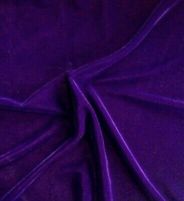 """Purple 2way stretch velvet fabric 60"""" Width Sold By The Yard"""