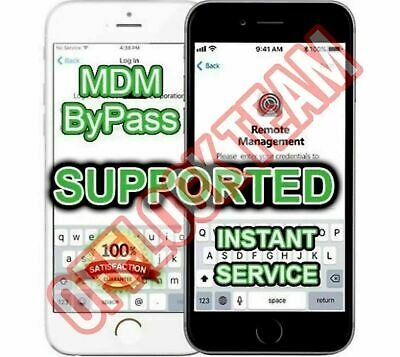 APPLE iPHONE MDM PROFILE BYPASS REMOTE MANAGEMENT REMOVE ALL iOS SUPPORTED
