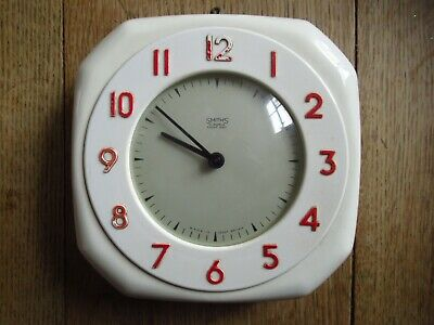 Smiths Bakelite Wall Clock Cream colour and in good working order - Octagonal