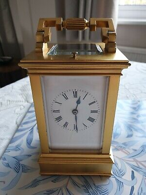 Genuine French Strike Repeater Brass Carriage Clock Circa 1910-20 Good Condition