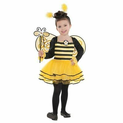 Child Ballerina Bumble Bee Costume Insect Bugs Girls Fancy Dress Outfit 4-6yrs