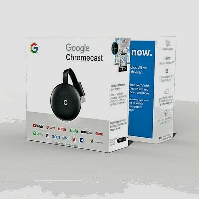 Chromecast 4K HD HDMI Media Streaming Player for Google Home Monitor Projectors