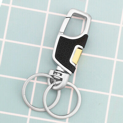 Cool Fashion Creative Metal Leather Car Keyring Keychain Key Chain Ring Black