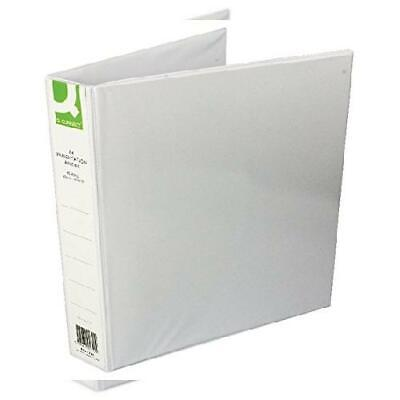Q-Connect KF01329Q Presentation 4D-Ring Binder 40mm A4 - White[Pack of 40 mm