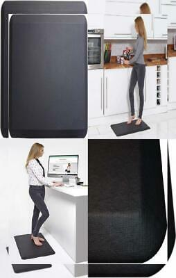Prism Anti Fatigue Mat, Ergonomic Mat for Kitchen, Standing Desk, Black