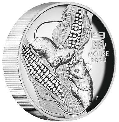 AUSTRALIAN 2020 Lunar Year of the Mouse 1oz $1 Silver HIGH RELIEF COIN Series 3