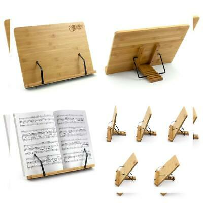 Theodore Bamboo Tabletop Book Rest Sheet Music Stand Adjustable Desktop...
