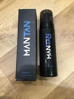 Mantan Medium Self-Tanning Mousse Especially For Men Large 200ML Size Rrp £25