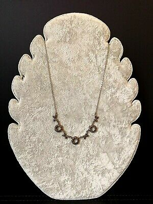 Antique Edwardian  Late Victorian 1900s 1910s Sterling Silver Marcasite Necklace
