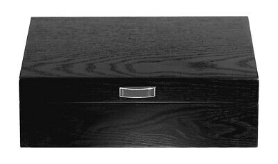 New 8 Slot Wrist Watch Storage Box Black Wood Display Case Large Faux Leather