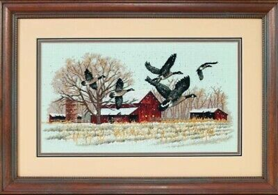 "DIMENSIONS ""WINTER GEESE"" CROSS STITCH KIT Kreuzstich-Stickpackung"