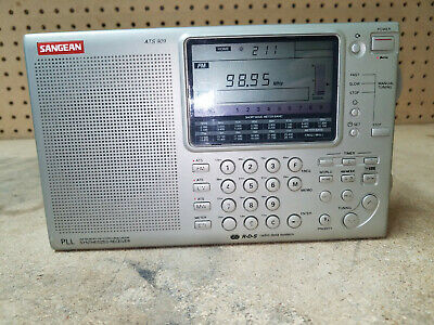 Sangean ATS 909 Short Wave Radio with Case and Manual