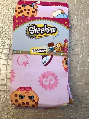 Shopkins Pink Leggings Pants Girls in Size 4 Lippy Lips & other styles available