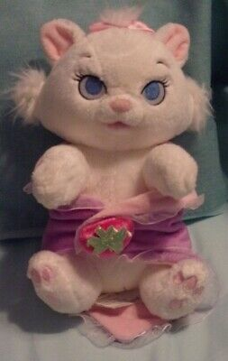 Disney Parks Disney Babies Marie Aristocrats White Plush Cat with Blanket 9""