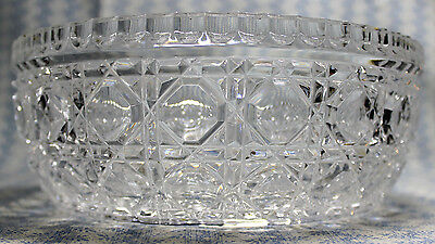 """Cut Lead Crystal Bowl, Removable Silver Plate Rim, 8"""" Wide x  3"""" Tall Coin Spot"""