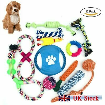 Dog Toy Pet Puppy Play Chew Braided Cotton Rope Frisbee Bundle Job lots Set