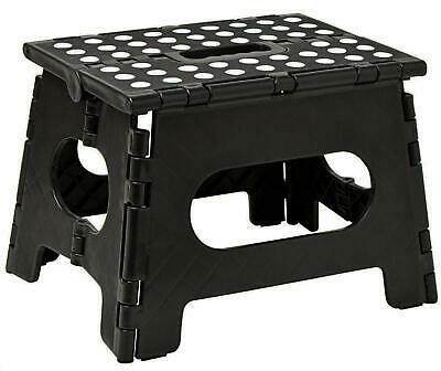 """Heavy Duty 9"""" Tall Folding Multi-Purpose Step Stool with Easy Grip Carry Handle"""