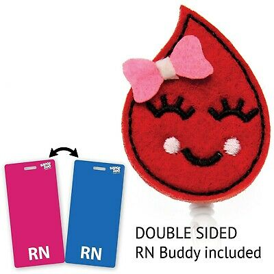 Blood Drop Nurse Badge Reel - Cute Blood Drop Clip - Great Nurse Gifts