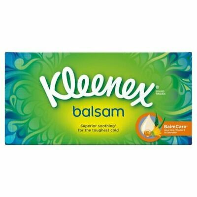 Brand New Boxed 12 x Boxes of Kleenex Balsam Tissues